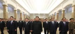 김정은, 한국 온 비건 보란듯··· 김일성 26주기 금수산궁전 참배
