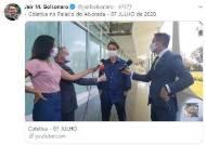 '마스크 거부' 브라질 대통령, 결국 코로나 확진…관저 격리