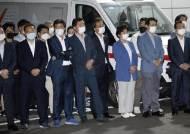 지난달 '대선 도전' 의논도···박홍근 등 빈소 앞 모인 '박원순계'