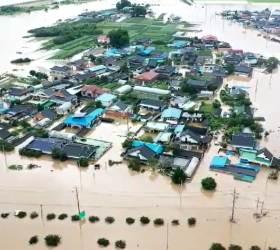 [<!HS>서소문사진관<!HE>] 광주·전남 '물폭탄'에 섬진강 제방 붕괴<!HS>,<!HE> 구례 등 마을은 수중도시로 변해