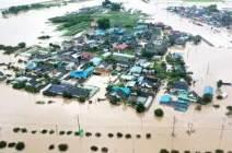 [서소문사진관] 광주·전남 '물폭탄'에 섬진강 제방 붕괴, 구례 등 마을은 수중도시로 변해