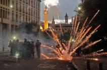 [서소문사진관] '폭발 참사' 레바논, 3일째 격렬 반정부 시위...내각은 총사퇴
