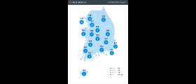 [8월 12일 PM2.5] 오전 6시 전국 초<!HS>미세먼지<!HE> 현황