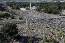 [서소문사진관]벨라루스 시민 22만 명 거리로...루카셴코 대통령 6선 연임 불복 시위