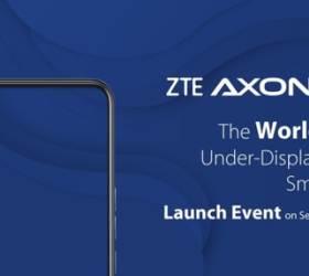 어? 카메라가 없네!…中 ZTE, 세계 최초 UDC 스마트폰 출시
