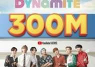 BTS '다이너마이트' MV 3억뷰 돌파…15일 만의 기록