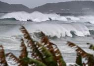 [서소문사진관] 경험한 적 없는 폭풍과 해일, '하이선' 접근하는 일본 남서부 초비상