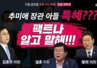 """""""盧·조국 역사 반복 안돼""""···'秋엄호' 긴급방송까지 하는 민주당"""