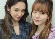 """소녀시대 효연X써니, SM 재계약→반가운 투샷 """"with 썬짱"""""""