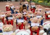 곰인형 머리띠엔 '단결투쟁' 차량엔 '누렁이 영정'…요즘 시위
