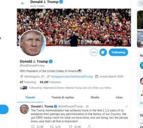 "<!HS>트럼프<!HE> 트윗 비번은 'maga2020!'…전문가 ""5번만에 맞혔다"""