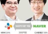 이재현·이해진 6000억 빅딜…'CJ·네이버 혈맹' 맺다