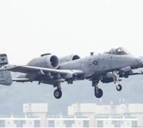 """<!HS>주한미군<!HE> A-10기, 훈련중 비폭발성 발사체 떨어뜨려…""""실수"""""""