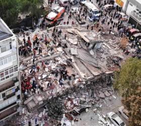 """[사진]진도 7.0 강진…""""최소 19명 사망, 700여명 부상"""" 사진으로 보는 터키·그리스 지진 <!HS>현장<!HE>"""