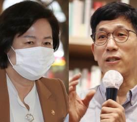 """진중권 """"추미애 코너 몰려···메뚜기도 한철 예외는 <!HS>유재석<!HE>뿐"""""""