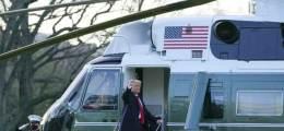 마린원 타고 백악관 떠난 트럼프  마지막 일정 앤드루스 공군기지 도착