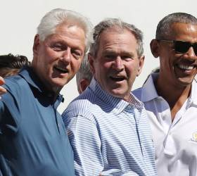 """부시도 클린턴도 <!HS>오바마<!HE>도 """"분열 끝내야""""…한목소리 통합 당부"""