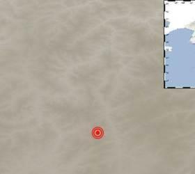 북한 함경남도 장진 부근 지역에서 규모 3.2 <!HS>지진<!HE>