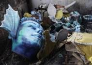 폭격맞은 듯 잔해 뒹군다…폐허가 된 브라질 리우 삼바학교