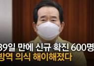 """정세균 """"39일만에 신규 확진 600명대…방역 의식 해이해졌다"""""""