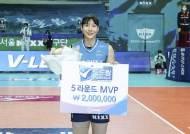 GS칼텍스 이소영-우리카드 알렉스, 5라운드 MVP 선정