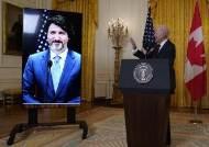 정상회담도 언택트로, 바이든 美 대통령 트뤼도 캐나다 총리와 화상회담