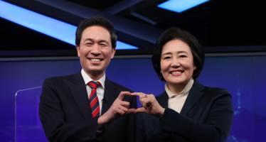 """박영선 """"철로위 아파트 오래걸려"""" 우상호 """"30만 가구 가능하겠나"""""""