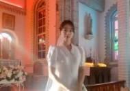 박신혜, 단아한 웨딩드레스 자태···'시지프스' 비하인드 컷