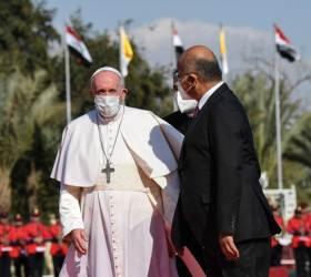 """<!HS>교황<!HE>, 가톨릭 역사상 첫 이라크 방문…""""폭력과 극단주의 중단해야"""""""