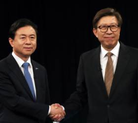 부산시장 선거 '엘시티 난타전' 접입가경…고소고발 '<!HS>태풍<!HE>의 눈'