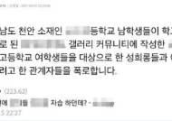 """입 담기도 민망한 여고생 비하글···교감 """"재학생이면 퇴학"""""""