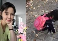 """정준호♥' 이하정 """"딸 유담, 오빠 배웅하고 아침산책"""""""