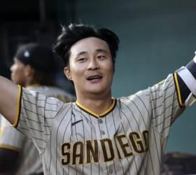 샌디에이고 김하성, <!HS>MLB<!HE> 데뷔 첫 홈런