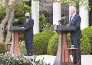 """스가, 바이든과 회담 뒤 """"미·일, 북한 CVID 재확인"""""""