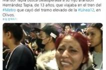 """""""사고 5분 전 통화했는데"""" 13살 아들 잃은 엄마, 멕시코 분통"""