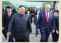 문 대통령만 쏙 뺐다…김정은·트럼프 둘만 나온 북한 화보집