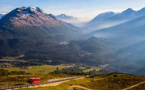 [한 컷 세계여행] 스위스 여행상품도 등장! 생모리츠의 낙조가 기다린다
