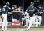 [현장 IS] 박석민, 시즌 9호 홈런…14년 연속 두 자릿수 홈런 임박