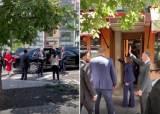 음식점 앞 검은차···바이든·해리스 내렸다, 그들은 노마스크[영상]