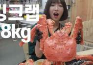 '353만 유튜버' 쯔양, 8kg 킹크랩 먹어치워 수산시장 초토화...