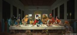 예수 자리엔 美, 日은 시바견 中 '최후의 만찬'으로 G7 조롱