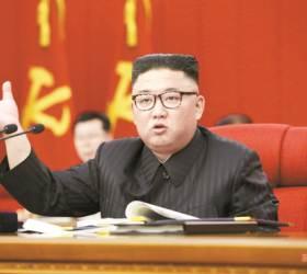 """김정은 """"작년 <!HS>태풍<!HE>피해로 알곡 생산 미달"""" 식량난 인정"""
