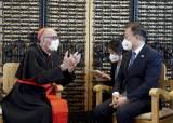 순방마다 카톨릭 소환...'<!HS>디모테오<!HE>'文의 숨은 코드 '교황 방북'