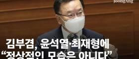 """""""윤석열·최재형 행보 어떤가"""" 묻자 김부겸 """"<!HS>정상<!HE>적 모습 아냐"""""""