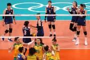 여자 배구, 브라질에 셧아웃 패전...번번이 놓친 '흐름'