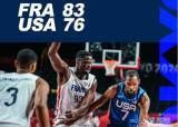 미국 농구 드림팀, 올림픽 첫 경기서 프랑스에 덜미...듀랜트 10득점 그쳐