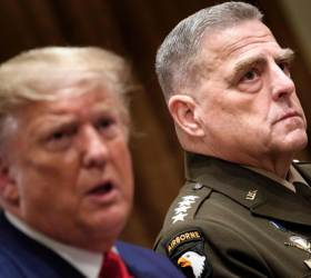"""<!HS>트럼프<!HE>가 쿠데타 시도하면, 군 수뇌부 줄사임하기로 계획"""