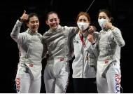 [속보] 펜싱 女 사브르 사상 첫 동메달…단체 출전 전 종목 메달 획득