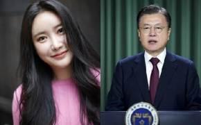 """눈시울 붉힌 브레이브걸스 민영에 文 """"나도 긴세월 낭인이었다"""""""