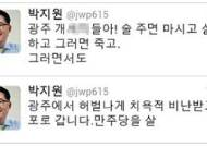 박지원, 취중 욕설 트윗으로 곤욕